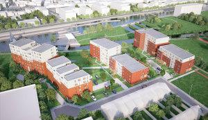 Molenkant - appartementen Harelbeke - inplanting